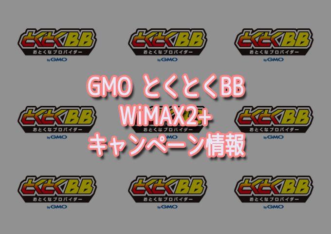 GMOとくとくBBのWIMAX情報