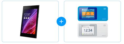 MeMO Pad7とWimax2+ w01