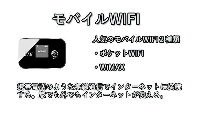 モバイルWIFIの種類