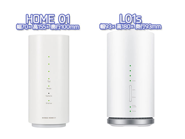 home01とl01sの比較